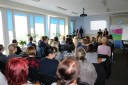 Zdjęcie przedstawiające spotkanie koordynacyjne kadry EURES województwa małopolskiego w Wojewódzkim Urzędzie Pracy w Krakowie, 25.10.2018 r.